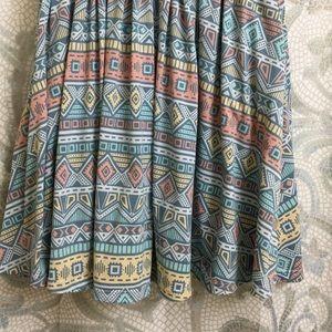 LulaRoe Pastel Aztec Madison Skirt